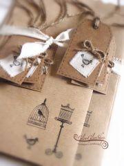 Textiles madárkáink kreatív csomagoló szett