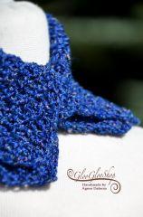 Kék, lenes sálgallér...
